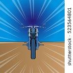 vector illustration of blue... | Shutterstock .eps vector #523564801