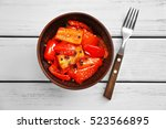 Grilled Bell Pepper In Bowl On...