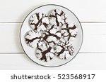 homemade chocolate crinkles... | Shutterstock . vector #523568917