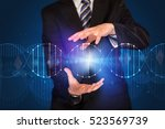 businessman with dna concept in ... | Shutterstock . vector #523569739