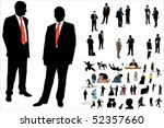 illustration of 50 people... | Shutterstock . vector #52357660