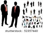 illustration of 50 people... | Shutterstock . vector #52357660