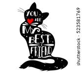 typographic poster with cat... | Shutterstock .eps vector #523581769