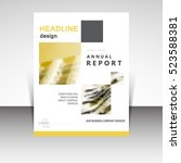 business annual report brochure ... | Shutterstock .eps vector #523588381