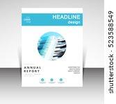 business annual report brochure ... | Shutterstock .eps vector #523588549