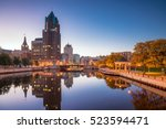downtown skyline with buildings ... | Shutterstock . vector #523594471