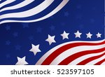 usa flag in style vector | Shutterstock .eps vector #523597105