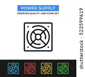 vector power supply icon.... | Shutterstock .eps vector #523599619