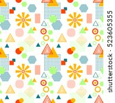 abstract seamless pattern from...   Shutterstock .eps vector #523605355