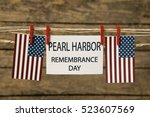 pearl harbor remembrance day... | Shutterstock . vector #523607569