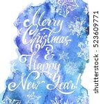 christmas card  calligraphy  ... | Shutterstock .eps vector #523609771
