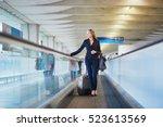 young elegant business woman... | Shutterstock . vector #523613569