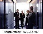 business team going on elevator ... | Shutterstock . vector #523616707