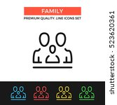 vector family icon. parents and ... | Shutterstock .eps vector #523620361