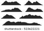 mountains silhouettes on the... | Shutterstock .eps vector #523622221