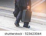 businessman and business woman... | Shutterstock . vector #523623064