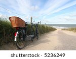 Tandem Bike At The Beach