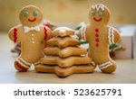 new year  gingerbread men ... | Shutterstock . vector #523625791