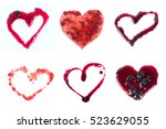 love set red jam in form of... | Shutterstock . vector #523629055