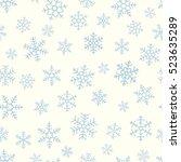 seamless blue   pattern of... | Shutterstock .eps vector #523635289