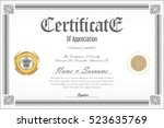 certificate template retro...   Shutterstock .eps vector #523635769