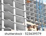 crane and new mutlistoty... | Shutterstock . vector #523639579