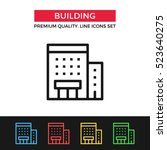 vector building icon. premium... | Shutterstock .eps vector #523640275