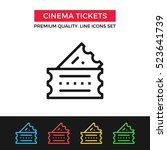 vector cinema tickets icon. two ...