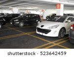 underground parking with cars | Shutterstock . vector #523642459
