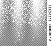 neon glittering snow on... | Shutterstock .eps vector #523647559