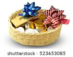Chocolate Coin With Ribbon In...