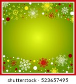 christmas background with place ... | Shutterstock .eps vector #523657495