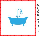 bath icon vector illustration... | Shutterstock .eps vector #523660939