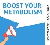 boost your metabolism... | Shutterstock .eps vector #523661065