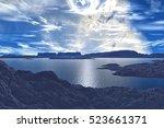 Mountain And  Lake. Landscape...
