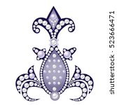 realistic decorative piece of... | Shutterstock .eps vector #523666471