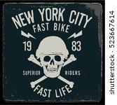 vintage biker graphics and...   Shutterstock .eps vector #523667614