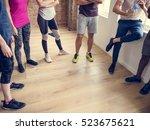 exercise international group...   Shutterstock . vector #523675621