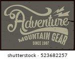 vintage vector of wilderness... | Shutterstock .eps vector #523682257
