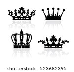 crown isolated on white... | Shutterstock .eps vector #523682395