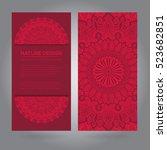 tribal mandala design set.... | Shutterstock .eps vector #523682851