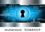 safety concept  closed padlock... | Shutterstock .eps vector #523683319
