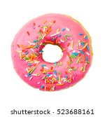 Donut With Colorful Sprinkles...