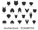 Stock vector vector silhouette of dog breeds isolated on white background 523688704