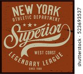vintage varsity graphics and... | Shutterstock .eps vector #523693537