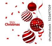 vector illustration. christmas... | Shutterstock .eps vector #523697509