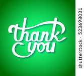 thank you lettering.... | Shutterstock .eps vector #523698031