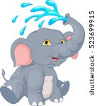 vector illustration of cute... | Shutterstock .eps vector #523699915