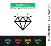 vector diamond icon. premium... | Shutterstock .eps vector #523702474