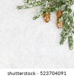 christmas decoration. branch... | Shutterstock . vector #523704091